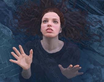 Ocean Level - 11x14 Art Print by Rebecca Gorst
