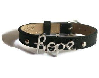 Script HOPE Bracelet, Word Bracelet, Encouragement Bracelet, Motivational Bracelet, Inspirational Bracelet