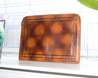 Antique Embossed Leather Portfolio 16 x 12