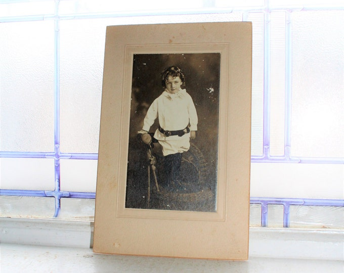 Victorian Girl Cabinet Card Photograph Vintage 1800s
