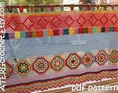 Crochet pattern BOHO CURTAIN/VALANCE by ATERGcrochet