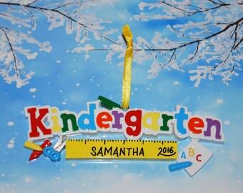 Personalized Kindergarten Christmas Ornament