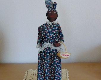 Caribbean Doll Curacao Souvenir Folk Art Doll Cloth Black Woman