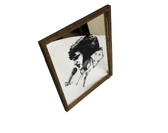 Vintage Elvis Presley Mirror - The King Wall Hanging, Mirror Wall Decor, Elvis the Pelvis, Viva Las Vegas, Music Memorabilia Dead Celebrity