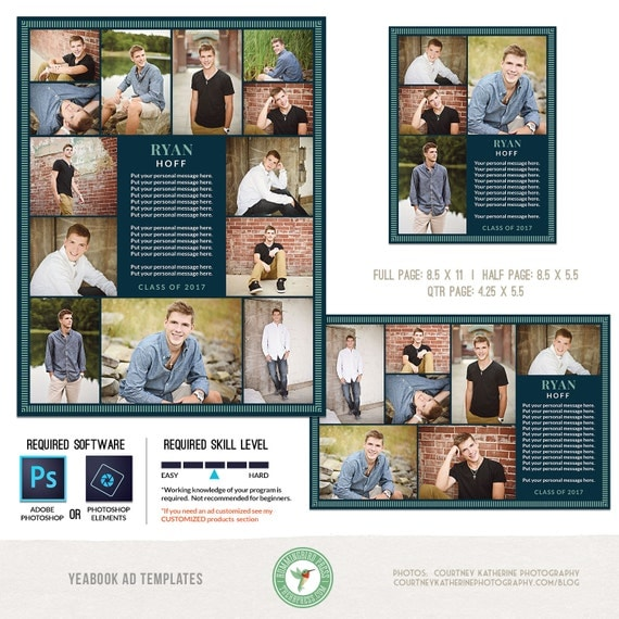 yearbook ad templates senior ad graduation ad high school. Black Bedroom Furniture Sets. Home Design Ideas