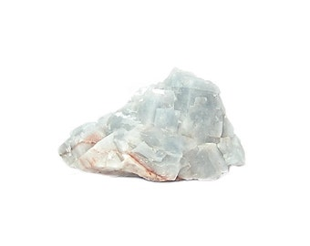 Calcite Naturally Blue and White Crystal Cluster Mineral Specimen, Geo gem mined in Mexico in the 1980s