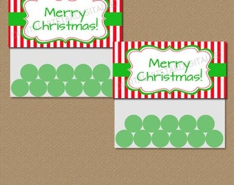 INSTANT DOWNLOAD Christmas Treat Bag Topper Printable - Holiday Bag Labels - Christmas Party Favors - Merry Christmas Bag Toppers CSV