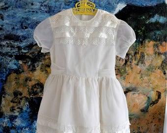 Girls Dress, Girls Party Dress, Girls Vintage Dress, Communion Dress, Flower Girl Dress, Little Girls Dress, Birthday Dress