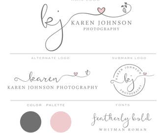 Branding Kit, Premade Branding Package, Photography Logos and Watermarks, Marketing & Branding Set bp83