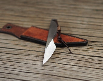 Kiridashi knife, carving knife, neck knife, edc knife, self defence tool - left handed