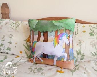 Unicorn Cushion Cover, Throw Cushion, Pillow, Decorative Cushion