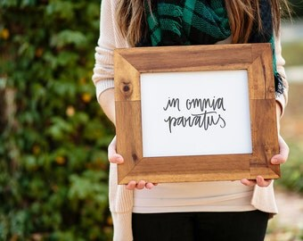 Typography Gilmore Girls Print: in omnia paratus