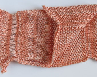 Certified Organic Cotton Spa Cloth / Washcloth - Sunset Orange & Natural White Low Impact Dyed - Great Gift for everyone!