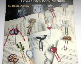 Cross Stitch Pattern Book Markers Clip Marks