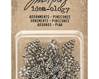 In Stock-Tim Holtz Idea-ology Adornments: Pinecones