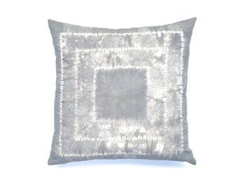 Charcoal Gray Pillow Cover 20 x 20   Shibori Grey Throw Pillow Grey Pillow Boho Nursery Neutral Pillow Hand Dyed Boho Pillow Cushion Cover