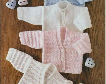 Beautiful Pdf  knitting pattern Cardigan and Bonnet