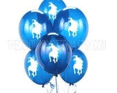 Polo Prince Balloons | Polo Balloons | Polo Player Balloons | Horseman Balloons | Blue | Red | Yellow | Green | Orange | Clear