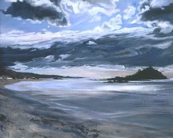 Marazion - oil on canvas Giclée print