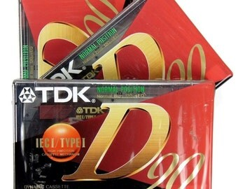 Pack of 3 Vintage New Old Stock TDK D90 Blank Dynamic Audio Cassette Tapes