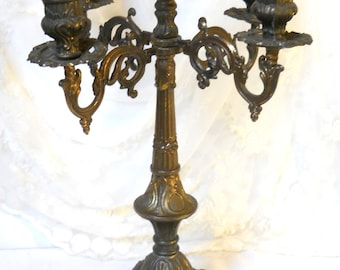 vintage French candelabra 5 arm candle stick candle holder five arm candle holder candelabra five arm candelabra