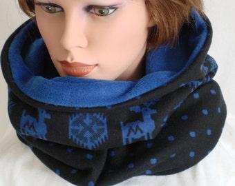Snood, Tube, Loop, Woman, Man, Teens, Plaid, Cowl, infinity scarf, ugly christmas sewn fabric scarf