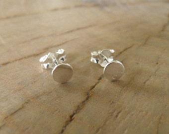 """Earrings... NEW """"Circle"""" sterling silver stud earrings."""