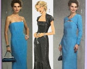 UNCUT Misses' Evening Dress and Shrug Sewing Pattern Butterick 4731 Size 14-16-18-20 Modest, Formal, Party, Gown, Mother of the Bride