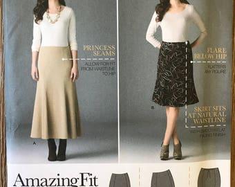 UNCUT Simplicity 2058 Skirt Sewing Pattern Size 10-12-14-16-18 Modest Skirt, Ruffle, Midi, Easy, Knee Length, Amazing Fit, Princess Seam