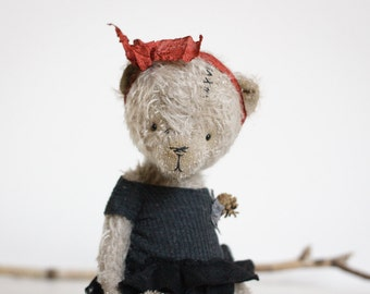 Sale 15% Off Made To Order Fluffy Teddy Bear Handmade Toy Plush Teddy Bear Mohair Artist Bear Stuffed Animal Toy 8 Inches FREE Shipping