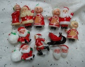 Miniature Santa, Vintage Christmas Miniature, Lot as Shown