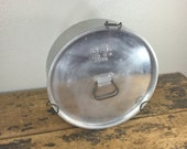 1944 US Army Aluminum Cook Pot / Pan with Lid Military S.M.Co. Vintage