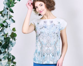 White Tiger - chiffon top