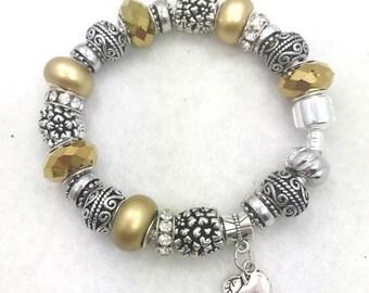 Golden Apple Charm Bracelet