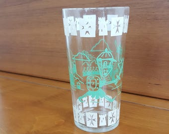 Hazel Atlas Kiddie Ware Drinking Glass
