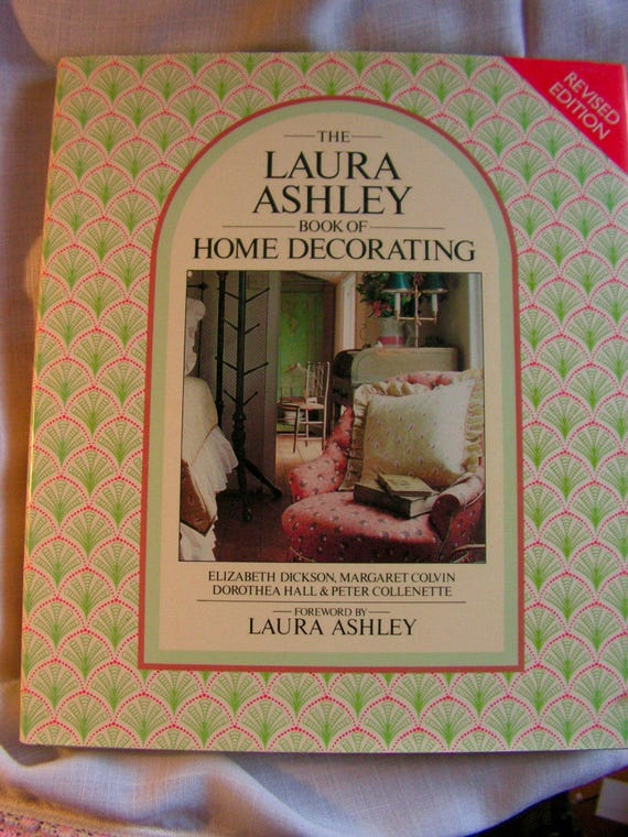 Upholstery Sewing Home Decor LAURA ASHLEY Book Of Home Decorating The  Original Queen Of Sweet Dainty And Chic! From LadybugNextDoor On Etsy Studio