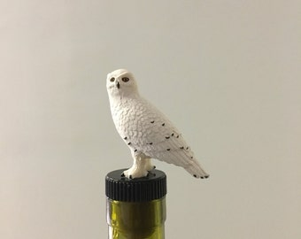Owl Wine Stopper, Snow Owl, Owl, Wine Gift, Wine Gifts, Owl Collector, Owl Lover, Wine Liver, Owl Wine Gift, Bird Wine Gift,wine
