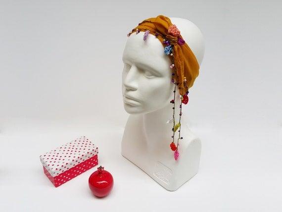 Women Head Scarf, Knot Hair Wrap, Boho Yoga Headband, Festival Scarf, Fashion Yellow Scarf, Bohemian Hair Wrap, Women Boho Bandana Soft Etsy