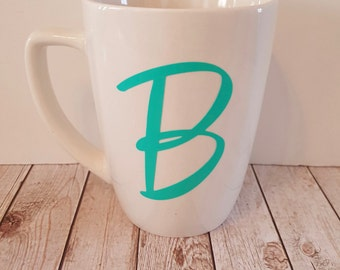 Personalized Letter B initial mug 14 oz customizable READY to SHIP