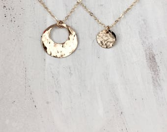 Mother Daughter Necklaces, Mother and Daughter Necklace, Mother's Necklace, Personalized Necklace, Gold Necklace, Silver Necklace