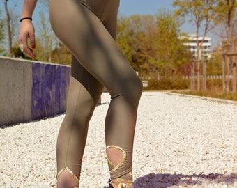 Beige Leggings, Yoga Leggings, Women Leggings, Yoga Leggings, Gym Leggings, Yoga Clothes, Woman Workout, Fitness Leggings