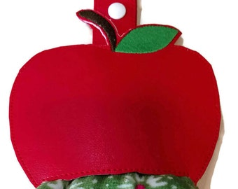 Apple kitchen towel holder, towel topper