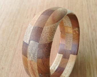 Wooden bangle laminated timber