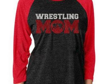 wrestling mom shirt, wrestling mom, wrestling, wrestling shirt, mom, sports mom, glitter shirt, wrestling tshirt, wrestling mom tee