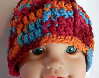 Colorful Ribbed Baby Beanie