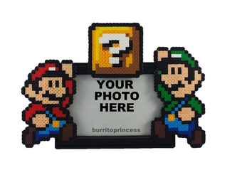 mario and luigi picture frame brothers picture frame video game picture frame brother birthday gift video game present