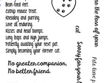 Frantic Stamper Clear Stamp Set  - Pet Sympathy