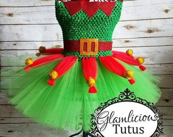 Elf Tutu dress| Holiday tutu dress| Elf Tutu | Christmas tutu dress | Newborn-5T listing!