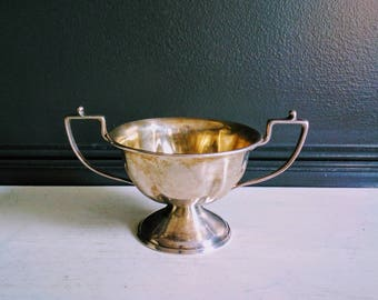 Vintage Silver Plated Trophy Cup - Small  Size Loving Cup - Vintage Winners Cup - Trophy Collector's Cup