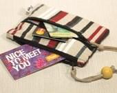Minimalist Zipper Wallet, Double Zippered Coin Purse, Vegan Card Holder, Womens Travel Wallet, Mens Zipper Change Pouch, Slim Zip Organizer
